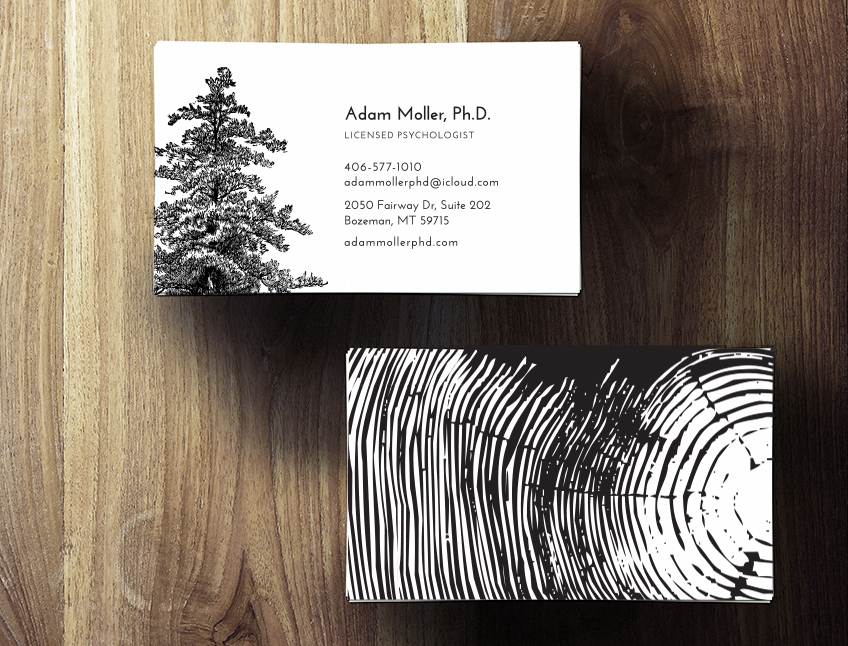Cedar tree business cards flora fauna designs this business card design was inspired by adams request to incorporate the cedar tree a simple san serif typeface with a black and white palette colourmoves